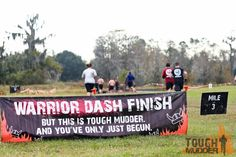 """This sign from Tough Mudder is awesome.  When we saw it I said, """"Only nine more miles to go!"""""""