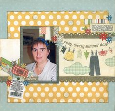 2012-10-12 Happy Day  Layout for Scrapbook Challenges Blog Hop