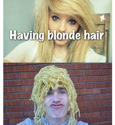 He used pasta
