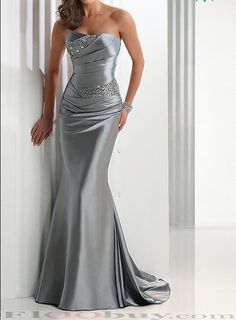 Mermaid strapless floor length evening dress 7 colors