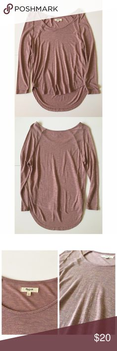 "Madewell Anthem Scoop Tee Excellent used condition | Some slight frizzing on front (pictured), but still in great condition | Super soft | 3/4 sleeves | Size Small | Approx. 23"" from shoulder to hem front & 26"" in back 