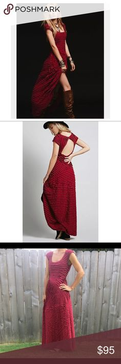Free People red maxi dress Small Free People red maxi dress size small. Sexy Backless detail Free People Dresses Maxi