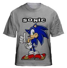 SONIC cartoon t-shirt design