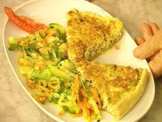 Tarta de pollo con verduras al vapor