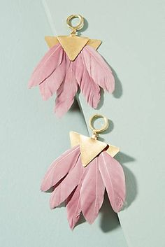Artemis Feather Drop Earrings