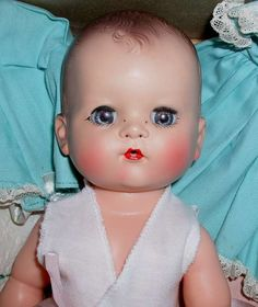 Betsy Wetsy doll cried real tears and wet her diaper when fed water from her bottle, 1950's.