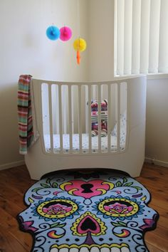 Sugar Skull Rug - via DTLL.  @Angel Chavez can u have another baby lol