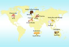 Travel the world with seven delicious #desserts #food #infographic