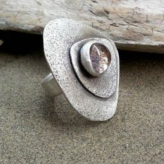 Sterling silver ring with semi precious stone
