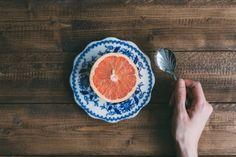 We love breakfast! This minimalist breakfast scene is availble for free download on the Scatter Jar homepage! www.scatterjar.com #food #foodphotography #freestock #freeresource #grapefruit #minimalist