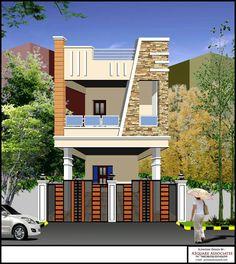 Ideas Apartment Building Elevation Bathroom For 2020 House Ceiling Design, Duplex House Design, House Front Design, Building Elevation, House Elevation, Front Elevation, Village House Design, Village Houses, Small Modern House Plans