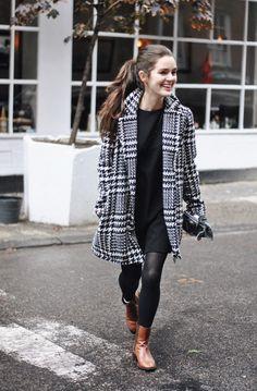 Dana Melanie - NYC Fall fashion / Houndstooth