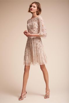 Aidan Mattox BHLDN Sun Valley Dress in  Bride Little White Dresses | BHLDN