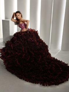 QuinceaneraGalleria.com: Pink Beaded Bodice Quinceanera Dress, $625.00