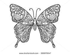 Mandala Butterfly Fotos, imágenes y retratos en stock | Shutterstock