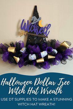 Burlap Wreath Tutorial, Diy Wreath, Diy Halloween Decorations, Halloween Crafts, Fall Halloween, Halloween Ideas, Nautical Wreath, Nautical Rope, Witch Wreath