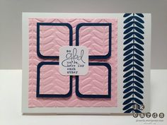 Create with Connie and Mary Sketch 234  from Splitcoast Stampers using Stampin' UP! Vine Street embossing folder. ... pink with black and white ...