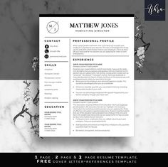 Buy One Get One Free Modern Resume Template Resume Writing