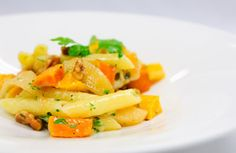 Autumn Pasta with Sage Brown Butter: This vegetarian pasta dish comes together in a snap, yet it tastes impressive and complex! Just 255 calories per serving. | via @SparkPeople #recipe #fall
