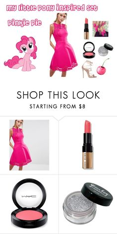 """""""my little pony inspired set: pinkie pie"""" by altrisa-mulla ❤ liked on Polyvore featuring My Little Pony, Ted Baker, Bobbi Brown Cosmetics, MAC Cosmetics and Dsquared2"""