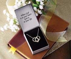 Valentine's Gift God Word Shaped In A Heart Crystal Pendant Necklace Jewelry #Unbranded #Chain