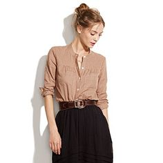 Love the width and construction of the belt in contrast to the gossamer skirt