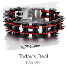 Today Only! 10% OFF this item.  Follow us on Pinterest to be the first to see our exciting Daily Deals. Today's Product: Sale - 10% OFF HEAVY CHAIN BRACELET - BLACK&RED or BLACK&ORANGE or SILVER&BLUE Buy now: https://small.bz/AAcOX0G #musthave #loveit #instacool #shop #shopping #onlineshopping #instashop #instagood #instafollow #photooftheday #picoftheday #love #OTstores #smallbiz #sale #dailydeal #dealoftheday #todayonly #instadaily