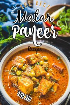 Dhaba Style Matar Paneer Recipe (Step by Step + Video) - Whiskaffair Mattar Paneer Recipe, Paneer Recipes, Curry Recipes, Veggie Recipes, Indian Food Recipes, Vegetarian Recipes, Cooking Recipes, Ethnic Recipes, Low Carb Appetizers