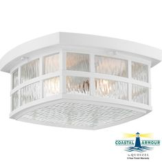 "Quoizel SNN1612 Stonington 2 Light 12"" Wide Flush Mount Outdoor Ceiling Fixture Fresco Outdoor Lighting Ceiling Fixtures Flush Mount"