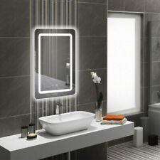 Fogless Bathroom Mirror Touch Sensor Led Back Lights Wall Hanging