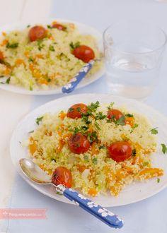 El cuscús con verduras es una receta fácil y riquísima, ideal para que los niños coman verduras. Una receta sana y nutritiva: cómo hacer cuscús con verduras.