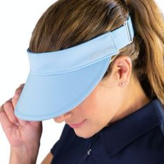JoFit Ladies Golf/Tennis Jo Visors - Powder Blue