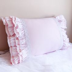 Luxury Pink Eyelet Lace Shabby Chic Cottage Multi by LovelyDecor Chic Bedding, Pink Bedding, Ruffle Pillow, Pillow Shams, Shabby Chic Cottage, Shabby Chic Decor, Egyptian Cotton Duvet Cover, Yellow Pillows, King Pillows