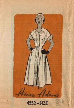 1950s Anne Adams 4552 FF Vintage Sewing Pattern MIsses