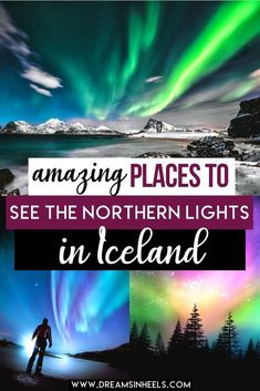 Searching for the best spots to see The Northern Lights in Iceland? We figure that is at the top of your Iceland bucket list! Here, we intend to help you to make your dream come true. Wherever you turn in #Iceland, you will have splendid vistas of the mesmerizing landscapes, majestic waterfalls & hot springs. | Iceland Travel | Iceland Itinerary | Iceland Blue lagoon | Iceland things to do in | Iceland Photography | Iceland Reykjavik | Northern Lights Iceland | Northern Lights Aurora Boreali Iceland Travel Tips, Europe Travel Guide, Backpacking Europe, Northern Lights Iceland, See The Northern Lights, Berlin, Best Travel Guides, Travel Inspiration, Travel Ideas