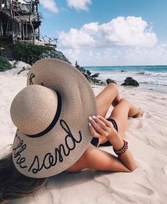 """Talk to the Sand"" hat - so cute!"