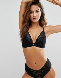 90f10120050fd Gossard High Apex Lace Plunge Bra A - G Cup - Black Stella Mccartney  Lingerie
