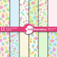 80%OFF Nursery digital papers Baby papers Newborn papers Nursery Pastel papers Polka dot papersPastel papers commercial use AMB-841