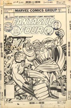 Cover to FANTASTIC FOUR #200 by Jack Kirby and Joe Sinnott. This was Kirby's last Fantastic Four cover.