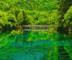 Cross Stitch Art, Cross Stitching, Northern Lights, Digital, Nature, Painting, Travel, Life, Naturaleza