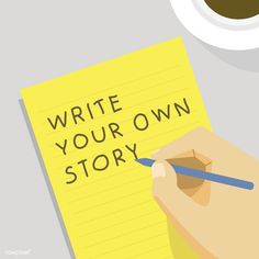 'Write your own story' illustration | free image by rawpixel.com
