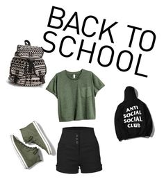 """""""back to school"""" by jessicagagnon661 ❤ liked on Polyvore featuring LE3NO, Keds, NLY Accessories, BackToSchool and SchoolTime"""