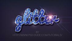 Glitter Sparkle Text Effect in Photoshop - Photoshop tutorial   PSDDude