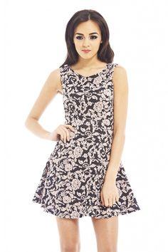 KNIT PRINT DRESS shopmodmint.com