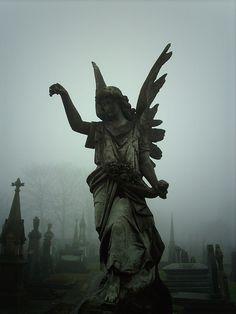 Graveyard stone angel