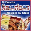 """50 Favorite American Recipes by State"" eCookbook   RecipeLion.com Snack Recipes, Dinner Recipes, Cooking Recipes, Yummy Recipes, Free Recipes, American Recipes, American Food, American History, Road Trip Food"