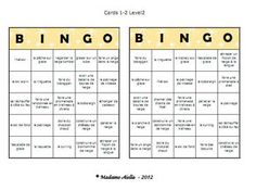 Great winter activity themed bingo game for your French as a second language class! Use it after the winter break! This package includes two full versions at different levels for middle school - 40 unique cards in each set plus calling cards and more! Middle School Activities, Fun Classroom Activities, Teaching Activities, Sports Activities, Classroom Ideas, Class Games, French Classroom, Classroom Bulletin Boards, French Lessons
