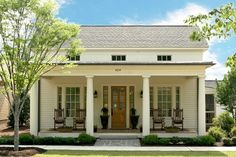 Sparta - | Southern Living House Plans. 1 story 1824 sf 3 bed 3 bath. Love the exterior.