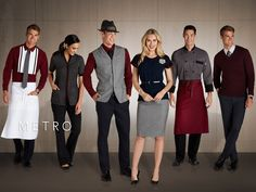 During New York Fashion Week, Cintas Corporation issued its 2015 Workplace Fashion Trends Forecast. As the economy improves, apparel programs are being reviewed. Corporate Uniforms, Staff Uniforms, Work Uniforms, Hotel Uniform, Men In Uniform, Camisa China, Waitress Outfit, Beste Hotels, Jackets