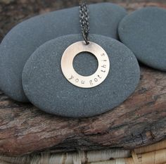you got this . a brass soul mantra necklace